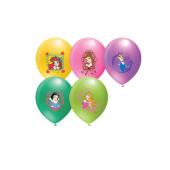 48 Adet Pamuk Prenses Baskılı Karışık Balon 12inç