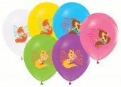 48 Adet Winx Baskılı Karışık Balonlar 12inç Ücretsiz Kargo Winks