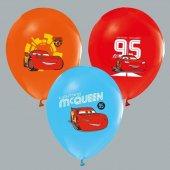 48 Adet Cars Baskılı Karışık Balon Doğum Günü Parti Ucuz Uçan