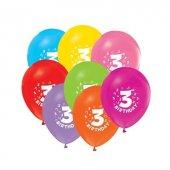 48 Adet 3 Yaş Baskılı Karışık Balon