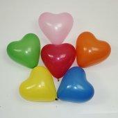 50 Adet Karışık Renkli Kalpli, Baskısız Balon