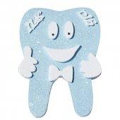 Ilk Diş Mavi Dişim Çıktı Figürlü Strafor 35x48 Cm Dirgit Erkek