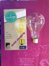 20 Adet Edison Style Rustik Lamba 60w E27 A75