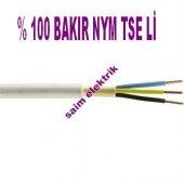 20 Metre 3x2,5mm.nym Antigron Kablo Tam Bakır