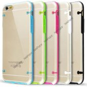 Iphone 7 Hibrit Transparan Kılıf Beyaz
