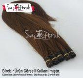 1 Gr 70 75 Cm Kahverengi Karamel Tonlarda Boncuk Kaynak Saç
