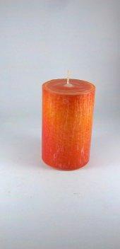 Dekoratif Mum (11*7 Cm) Portakal