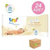 Uni Baby Yenidoğan Islak Pamuk Mendil 24 Lü