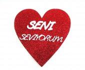 Strafor Kalp Seni Seviyorum Yazısı