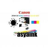 Canon E404, E464 Uyumlu Siyah Ve Renkli Kartuş Dolum Seti