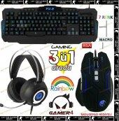 Frisby Gamemax Gamer 4 Multimedia Üçlü Işıklı Gaming Oyuncu Seti Işıklı Klavye Mouse Kulaklık Gaming Set Kampanyalı Fiyat