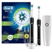 Oral B Pro 790 Şarj Edilebilir Diş Fırçası Siyah 2li Avantaj Paketi