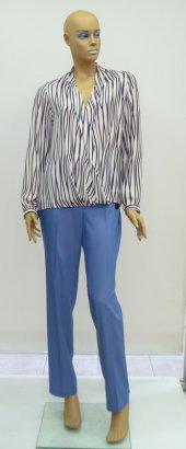 Pantalon Büyük Beden Tensel Normal Bel Cepli