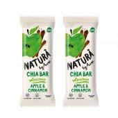 Natura By Anne Apple & Cinnamon Chia Bar, 2x38gr