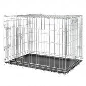 Trixie Plastik Tepsili Galvaniz Köpek Taşıma Kafesi 109x79x71cm