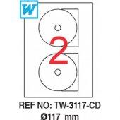 Tanex Tw 3117 Lazer Cd Etiketi 117mm 200 Adet Etiket