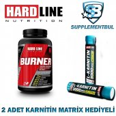 Hardline Burner 120 Tablet + 2 Adet Karnitin Matrix 30 Ml Hediyel