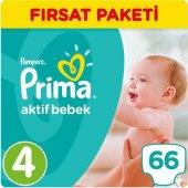 Prima Aktif Bebek No 4 Maxi 66 Adet Ekonomik Bebek Bezi