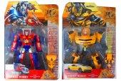 2in 1 Dönüşebilen Oyuncak Transformers Robot 2 Adet Ayrı Model