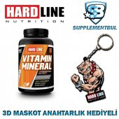 Hardline Vitamin Mineral 120 Tablet + 3d Maskot Anahtarlık Hediye