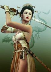 Grafika Kadın Samuray Puzzle (2000 Parça)