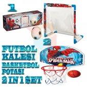 Futbol Kalesi Basket Potası 2 Li Oyuncak Spiderman Oyun Seti