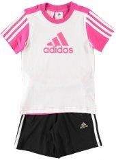 Adidas Lk Ess Logo S Çocuk Şort Tişört Takım Ak2808 Ak2809
