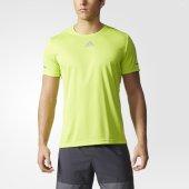 Adidas Run Tee Ss16 Erkek Yeşil Tişört Aı7491