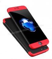 Iphone 8 Plus 360 Full Korumalı Kapak Kırmızı Siyah