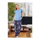 Eros 21590 Modal 0 Yaka Kısa Kol Bayan Pijama Takımı