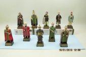 Osmanlı Padişahları Seti, 10 Lu Set, Polyester Döküm, El Boyama, Hediyelik