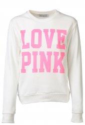 Beyaz Pink Bayan Sweatshirt