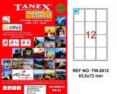Tanex Tw 2012 Lazer Yazıcı Etiketi