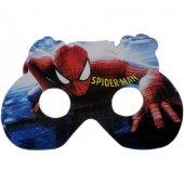 6 Adet Spiderman (Örümcek Adam) Karton Gözlük Erkek Doğum Günü P