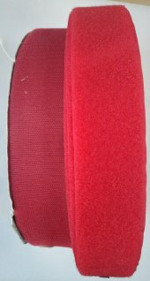 5 Cm Cırt Bant Kırmızı 1 Metre