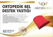 Orthozen Ortopedik Renkli Bel Destek Yastığı Kırmızı Bel Minderi