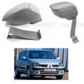Renault Clio 2 Hb 1998 2005 Delmesiz Çelik Ayaklı Gri Sürgülü Kolçak 8014373