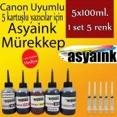 Asyaink Canon Pıxma Mx 725 Pgı 550 Clı 551 5x100ml Mürekkep Set