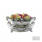 çiçekli Pirmoda Gümüş Jardinyer