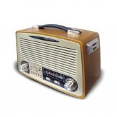 Nostalji Radyo Kemai Md 1700bt Bluetooth+fm Radyo+usb+sd Kart