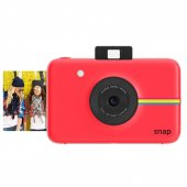 Polaroid Snap Instant Digital Camera (Red) With Zınk Zero Ink Pri