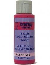 Craftsy Enamel Akrilik Cam Ve Porselen Boyası E 369 Fusya