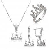 Gümüş Kraliçe Tacı Set