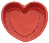 Silikon Kalp Desenli Kek Kalıbı