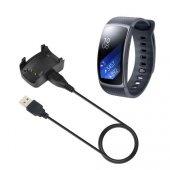 Samsung Gear Fit 2 R360 Usb Şarj Kablosu Dock Stand Markacase
