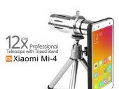 Xiaomi Mi 4 Birebir Kılıflı 12x Zoom Teleskop Telefon Kamera Lensi
