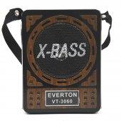 Everton Küçük Şarjlı Dijital Radyo Müzik Mp3 Çalar Usb Sd Aux Led