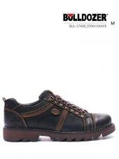 Bulldozer 17408 Siyah Hakiki Deri Erkek Günlük Ayakkabı