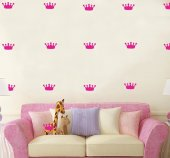 Decolight Pembe Taç Sticker