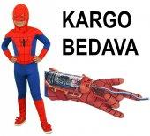 örümcek Adam Kostümü Ve Ağ Atan Eldiveni